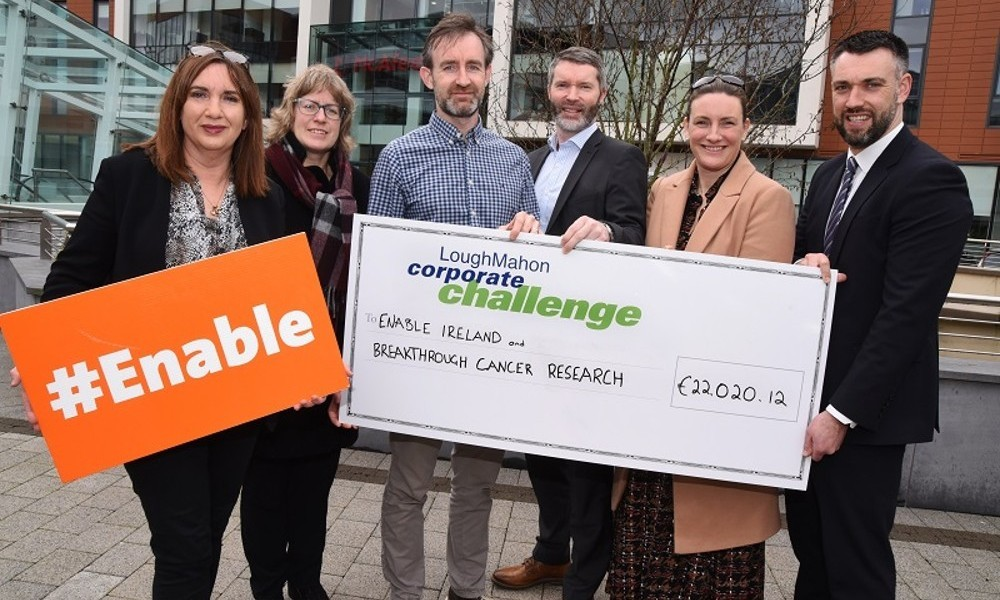 Lough Mahon Corporate Challenge raises over €22,000 for Enable Ireland and Breakthrough Cancer Research