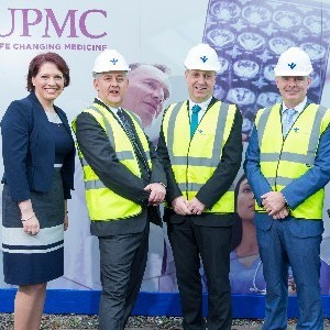 Minister of State at the Department of Health Jim Daly T.D. turns the sod on €77m development plan at Bon Secours Hospital Cork