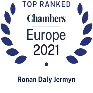 Chambers Europe Ranks Ronan Daly Jermyn Highly in 2021 Guide